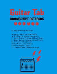 Amazon Com Guitar Tab Manuscript Notebook Extra Large