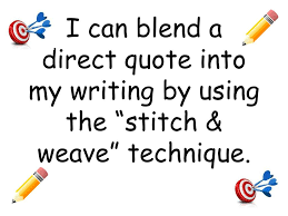 Ppt I Can Blend A Direct Quote Into My Writing By Using The