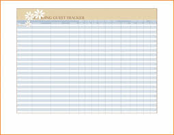 Wedding Guest List Spreadsheet Inspiration Of Excel Expense Report ...