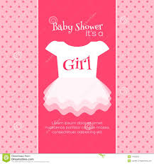 baby shower invitations for girls templates baby shower invitation template stock illustration illustration of