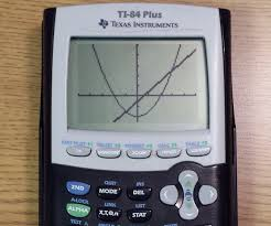 how to find the intersecting points of two functions on a ti 84 plus 5 steps
