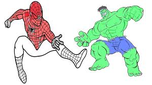 The avengers just go nowhere without their huge assistant, protector and all. Coloring Pages Spiderman Vs Hulk Coloring Book For Kids Youtube