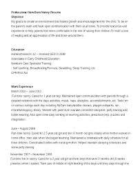Nanny Resume Skills Fascinating Professional Sample Babysitter Resume Samples Doc Mmventuresco