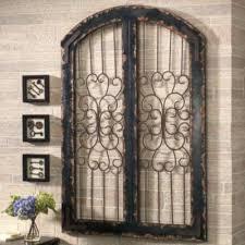 surprising ideas arched wall decor shutter art innovation idea plus valuable design window metal iron gate