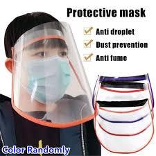 1pc <b>Transparent Face Mask PVC</b> Anti-fog Protective Mask Face ...