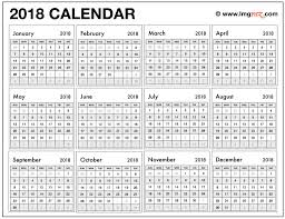 free printable 2018 calendar one page year at a glance