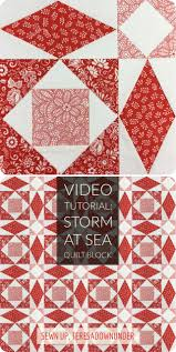 Video tutorial: Storm at sea quilt block – version 1 | Sewn Up & Storm at sea quilt block - video tutorial Adamdwight.com