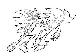 coloring pages super sonic coloring pages and shadow free on art pictures the hedgehog to