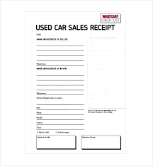 Free Invoice Template Word Used Car Sale Receipt Download On A