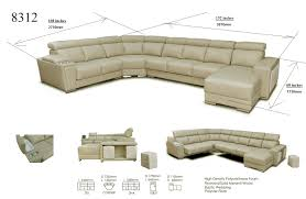 Living Room Furniture Dimensions 8312 Sectional W Sliding Seats Leather Sectionals Living Room