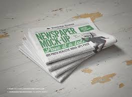 Newspaper Newsletter Mock Up 2 By Punedesign Graphicriver