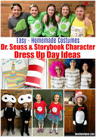 dr seuss costumes and storybook character costumes for kids dr seuss dress up week ideas