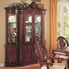 Kitchen china cabinets Refinished Coaster Tabitha Traditional China Cabinet Cherry Cabinets In Finish Ebay Kitchen China Cabinets Ebay