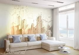 awesome summer theme 3d wall murals design modern bedroom colorful .