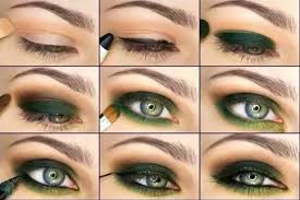 army green bold eye makeup tutorial