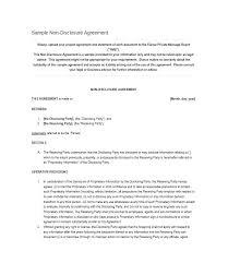 Free Non Disclosure Agreement Template Simple Nda Canada