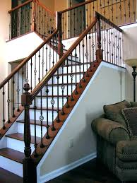 stair railing cost glass