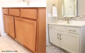 diy painted bathroom cabinets