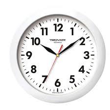 <b>Часы настенные</b> TROYKA 11110118, круг, <b>белые</b>, белая рамка ...