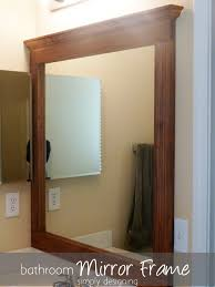 bathroom mirrors framed. The Tape In Between Mirror Frame And Wall. It Worked Perfectly. Is Perfectly Flush To Wall Totally Upgrades Our Bathroom! Bathroom Mirrors Framed