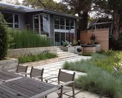 Design ideas for a modern retaining wall landscape in San Francisco.