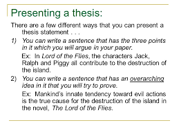 Thesis Essay Example Thesis Statement On Ralph Lord Of The Flies Essay Example 2518