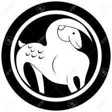 Stylizované Znamení Zvěrokruhu Kozoroh Tetování Izolovaný Objekt