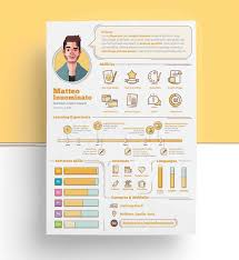 Resume In Powerpoint Awesomee Resume Templates For Infographic Template