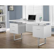 White computer desk Shabby Chic Monarch Specialties Retro Style Computer Desk Office Depot Computer Desks Office Depot Officemax