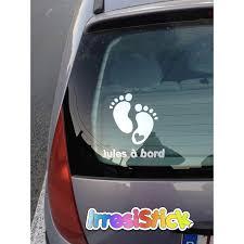 stickers autocollant bébé à bord personnalisé