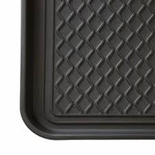 Decorative Boot Tray 100 X 100 in Black Eco Friendly Utility Boot Tray Mat Recycled 66