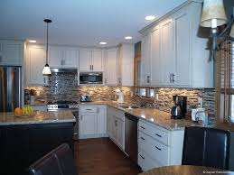 black kitchen cabinets with white marble countertops. Marvelous L Shape White Kitchen Cabinets With Black Island And Grey Marble Countertop Also Cone Pendant Lamp Plus Moder Coffee Maker Modern Countertops N