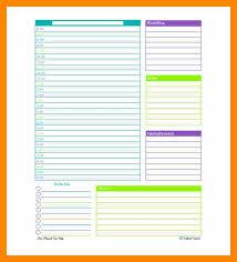 Daily Scheduler Template Mesmerizing 48 Daily Organizer Template Lobo Development