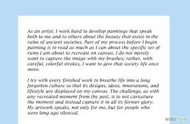 artist statement exles template best template collection