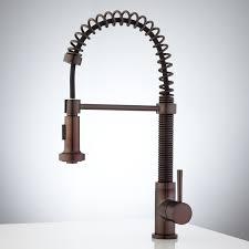 kitchen  amusing bronze spiral pull down kitchen faucet with