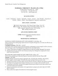 Sample Nurse Manager Resume Rn Casenager Ideas Nursing