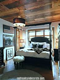 Patriotic Bedroom Decorating Ideas Beautiful Rustic Patriotic Bedroom Done  By Adding Boards To The Ceiling And . Patriotic Bedroom Decorating Ideas ...