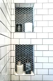 Built in bathroom wall storage Studs Builtin Tiled Shelves With Honeycomb Accent Homebase Decorating 25 Best Builtin Bathroom Shelf And Storage Ideas For 2019