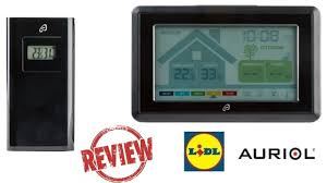 AURIOL Radio-Controlled Weather Station & Ventilation Monitor REVIEW / TEST  (Lidl IPX4 +50 +60) - YouTube