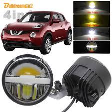 Nissan Juke Fog Light Bulb Replacement Buildreamen2 Car Led Fog Light Lens Angel Eye Daytime