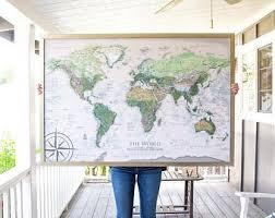 <b>World</b> map <b>wall art</b> | Etsy