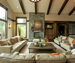 contemporary living room with restoration hardware belgian track arm upholstered chair rough cut stone veneer