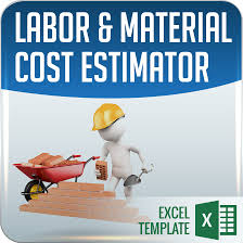 labor material cost estimator and job card template ms excel 101business icon 05