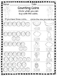 Printable Grade 1 Money Worksheets Kids Counting Coin For Nickels ...