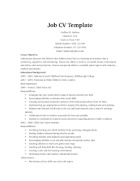 cv template for job