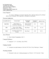 Resume Formats Pdf Job Resumes Format Resume Example Download Job Job Resume Sample