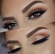 24 prom makeup ideas gold and brown eye makeupgold makeup glitterwedding