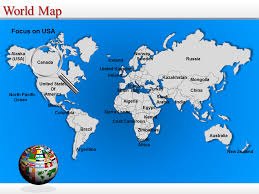 Map Of The World For Powerpoint World Map Powerpoint Editable World Map World Map Ppt Template