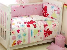 minnie mouse infant bedding set baby mouse crib bedding set 5 pieces design minnie mouse comforter