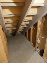 My Very Own North Pole Our Fifth House - Unfinished basement stairs